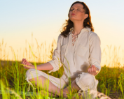 Woman practicing meditation for pain management